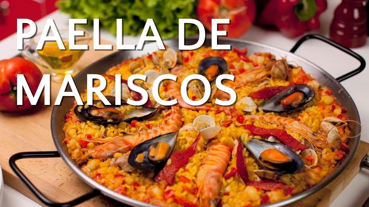 Paella de Marisco  Receta Arroz Brillante  YouTube