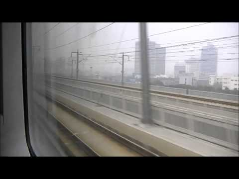 China High Speed Rail: Shanghai - Suzhou at 300kmh