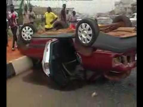 Benin: Street Sweepers Escape Death As Truck Ram Into Car At Five Junction