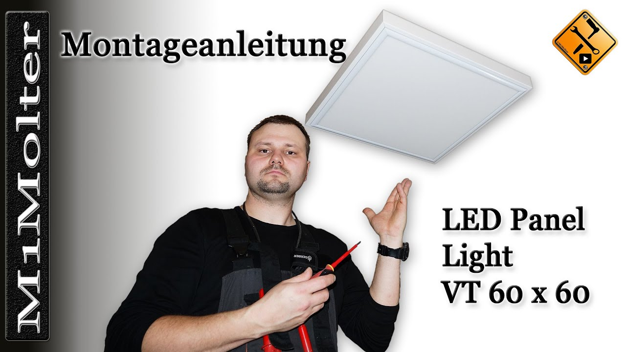 led panel 60x60 deckenleuchte montageanleitung von m1molter youtube. Black Bedroom Furniture Sets. Home Design Ideas