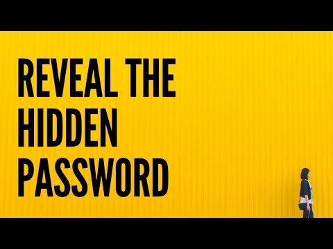 How to Reveal the Hidden Password on the Login Page