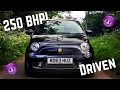250 BHP Abarth 500 Acceleration, First Drive, Reaction,Turbo Flutter, Sound
