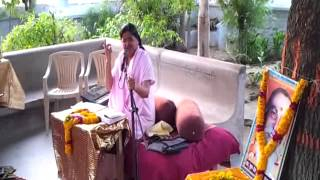 Anandeshwar Mandir me Sachcha Baba ki Katha Karti hui Guru Maa 2