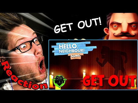 """GET OUT"" HELLO NEIGHBOR Song by DAGames REACTION! 