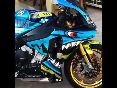 Yamaha R1m Customizada Por Hugsticker Customs Youtube