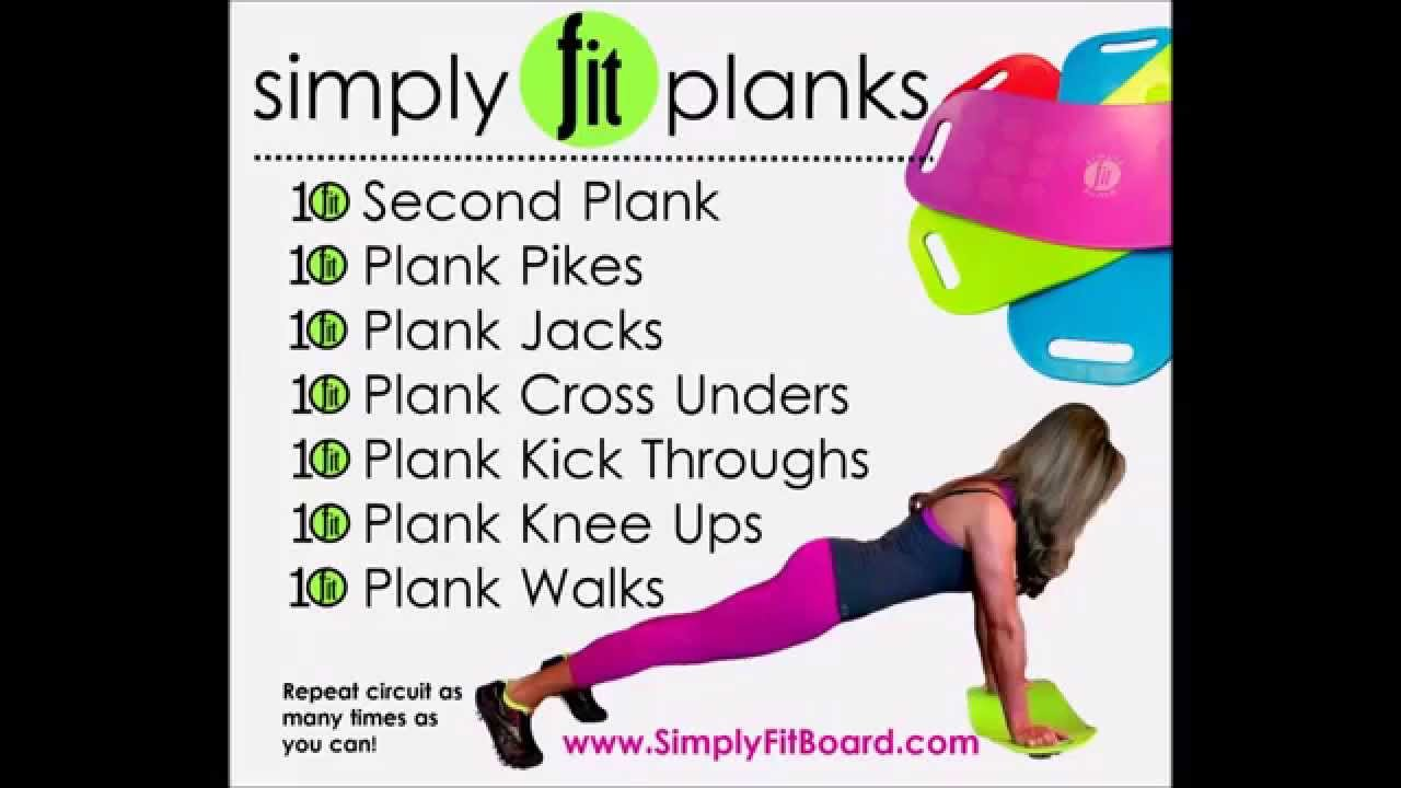Simply Fit Board ~ Planks - YouTube