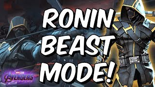 Ronin (Avengers Endgame) Rank Up & Beast Mode Gameplay - Marvel Contest of Champions