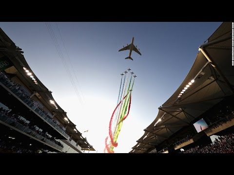Spectacular  F1 Grand Prix Airshow Abu Dhabi  UAE