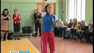 Е.Столярова провела олимпийский урок для петрозаводских школьников