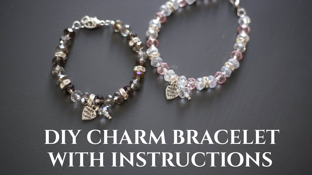 Diy Beaded Charm Bracelet With Crimp Bead Clasp Wire Step By