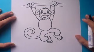 Como dibujar un mono paso a paso | How to draw a monkey