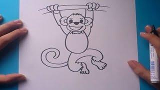 Como dibujar un mono paso a paso | How to draw a monkey