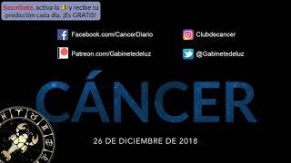 Horóscopo Diario - Cáncer - 26 de Diciembre de 2018
