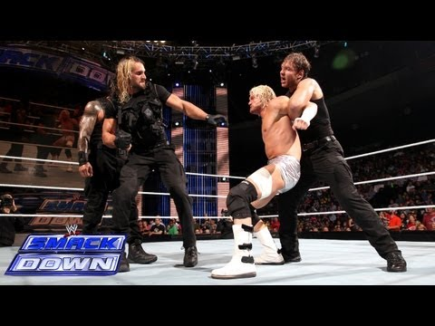 Thumbnail: The Shield compete in an 11-on-3 Handicap Gauntlet Match: SmackDown, Sept. 20, 2013