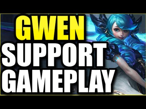 "GWEN SUPPORT FULL GAMEPLAY! | FULL MATCH OF THE *NEW* BROKEN CHAMPION ""GWEN"""