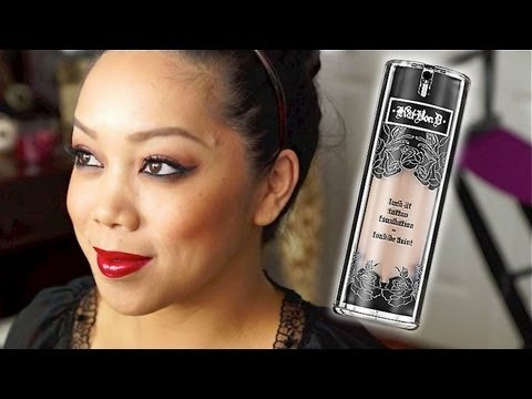 NEW Kat Von D Lock-it Tattoo Foundation First Impression / Review - itsjudytime