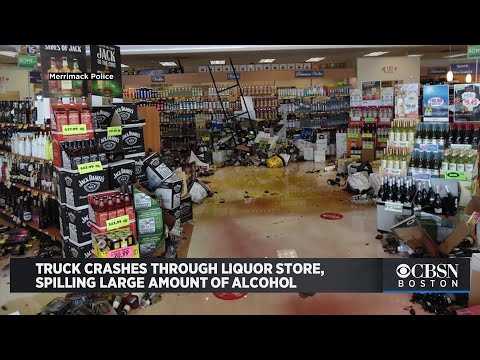 Truck Crashes Through New Hampshire State Liquor Store, Spilling Large Amount Of Alcohol