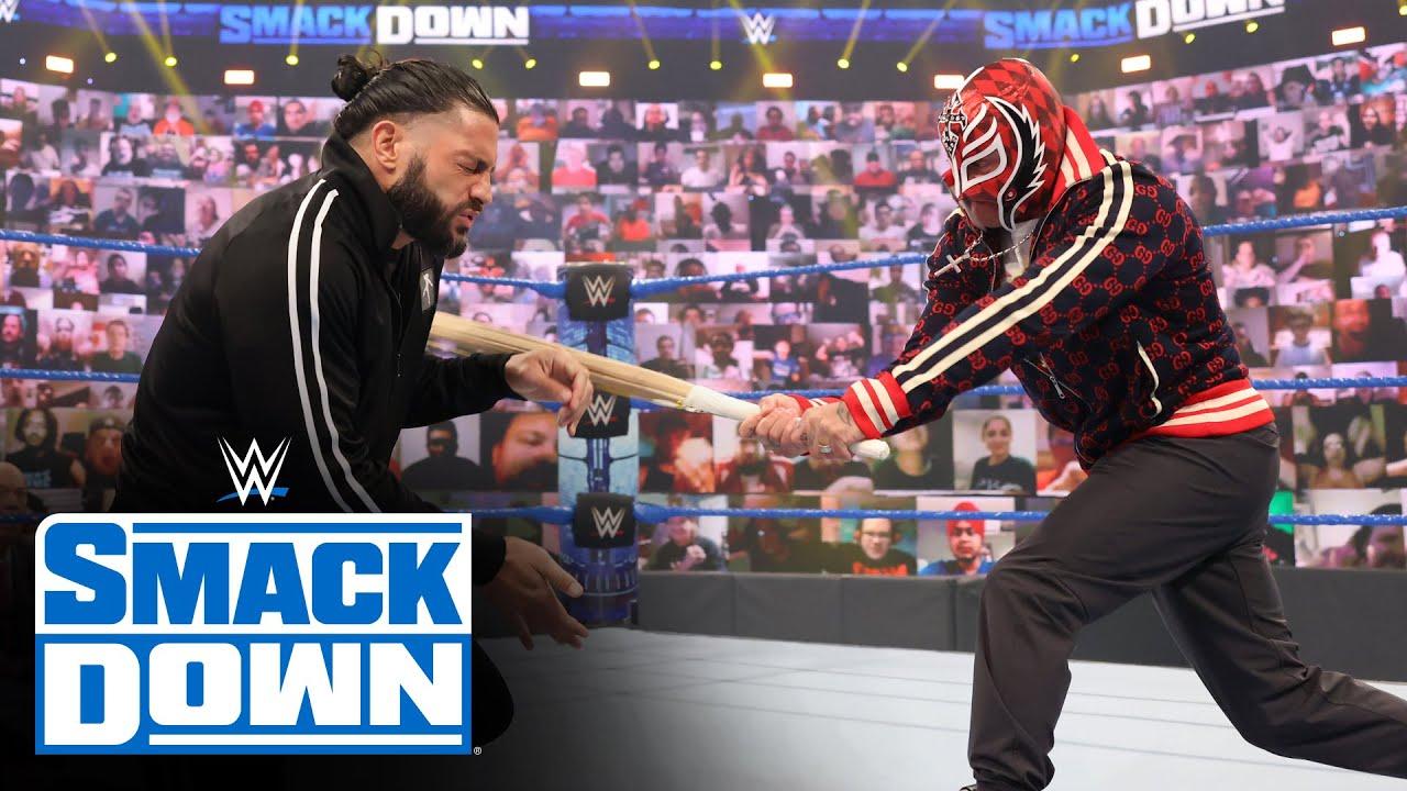 Download Roman Reigns brawls with Rey & Dominik Mysterio: SmackDown, June 11, 2021