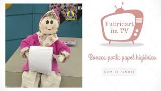 Boneca porta papel higiênico com a Gi Flores
