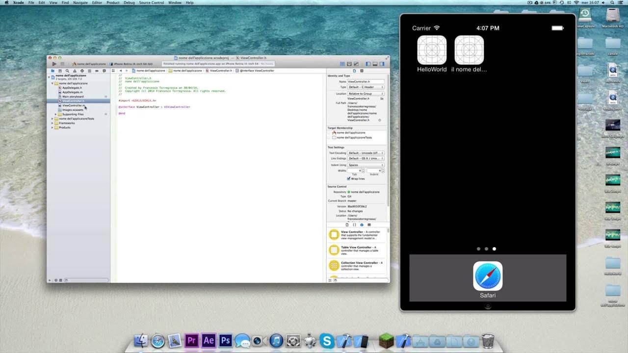 come creare un' app con xcode mac lezione #1 - youtube