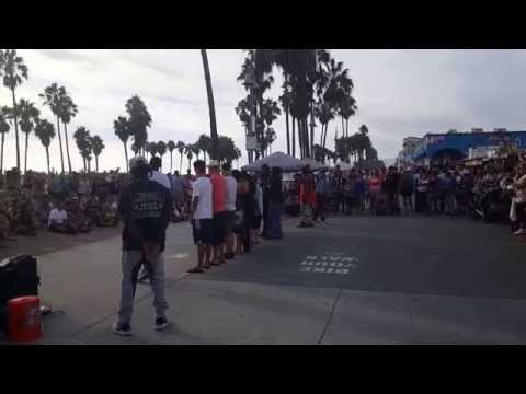 Venice beach  street dancers. .
