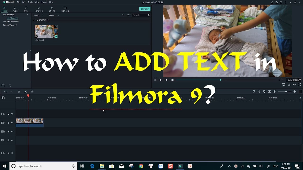 How To Add Text To Video Filmora 9 Tutorial Youtube
