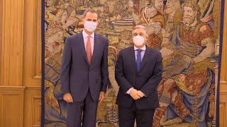 Felipe VI retoma su agenda tras el anuncio de la marcha de Juan Carlos I