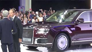 видео Первые контракты на автомобили Aurus начнут заключать в сентябре