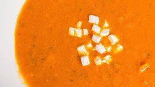 Суп из запеченных помидоров   АСМР    Рецепт