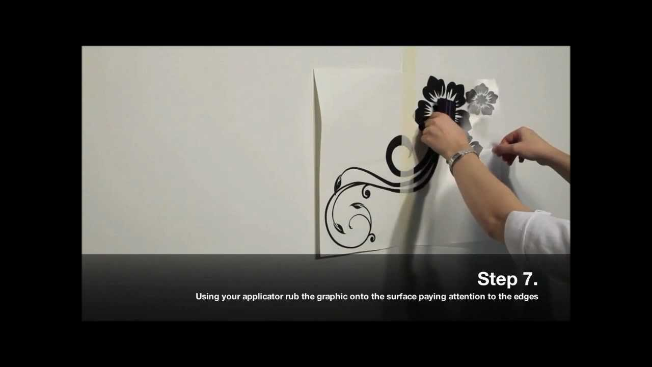 How to Apply Wall Vinyl  YouTube
