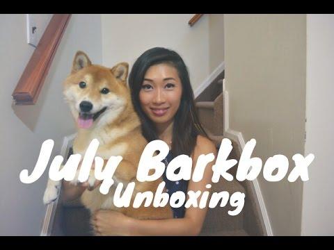 July Barkbox Unboxing ft My Shiba Inu! ♡ SummerAnn