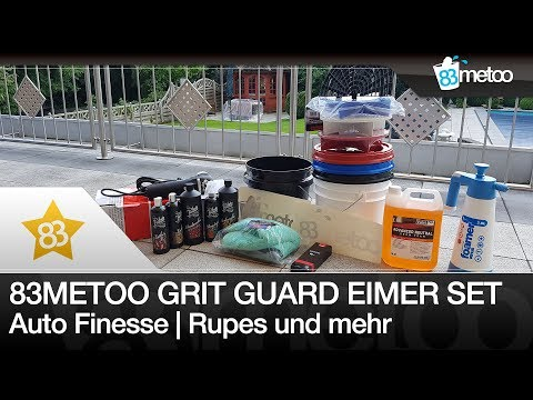 83metoo Grit Guard Eimer Sets | Rupes BigFoot LHR 75E | Auto Finesse | Für die perfekte Autowäsche
