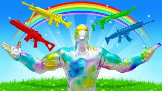 The RAINBOW IRON MAN Challenge in Fortnite!