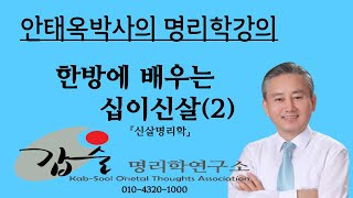 한방에 배우는 십이신살(2)-(신살명리학147쪽)-갑술명리학-안태옥박사의 품격있는 사주강의