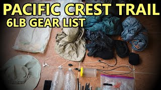 6LB ULTRALIGHT PACIFIC CREST TRAIL GEAR LIST