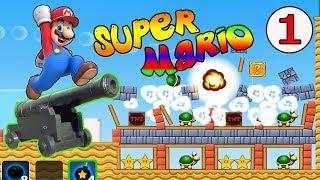 Супер Марио и Пушка Мультик игра для детей 1 Серия Прохождение Suer Mario