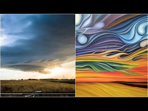 Storm chasers, painter make incredible storm art