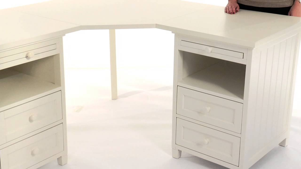 Maximize Corner Space With The Beadboard Basic Corner Desk