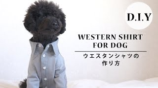 How to make western shirt for dog | 【手作りわんこ服】ウエスタンシャツの作り方 thumbnail