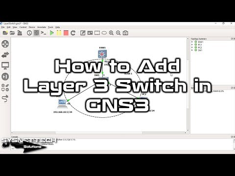 ✅ How to Add Layer 3 Switch in GNS3 | Cisco Layer 3 Switch