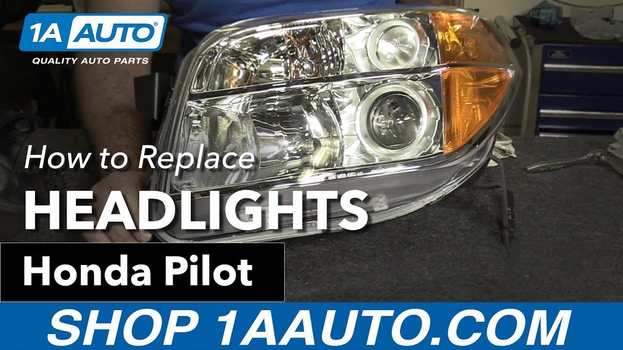 how to replace headlights 06 08 honda pilot Honda Pilot Engine Diagram
