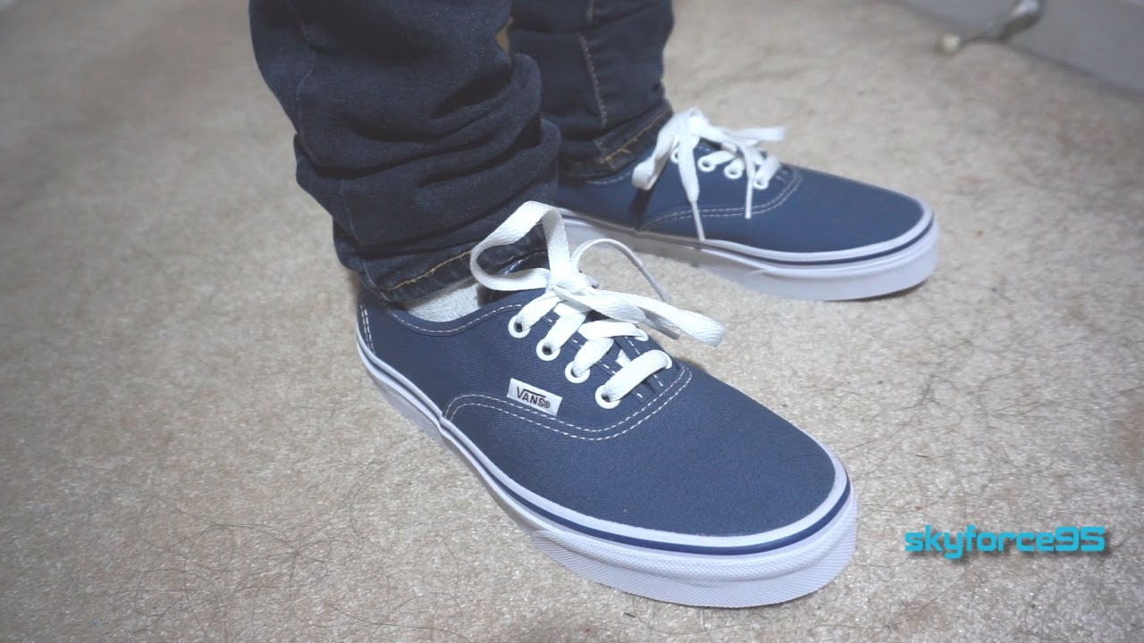 8194269b488f Vans Authentic Classic Skate Shoe Unboxing   Review - YouTube