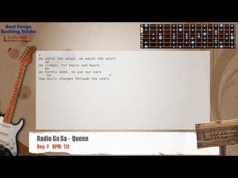 Radio Ga Ga -Queen Guitar Backing Track with chords and lyrics