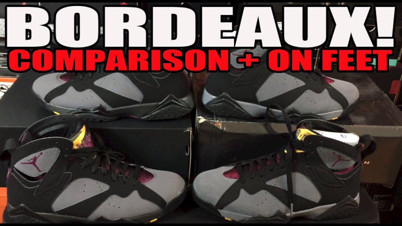 brand new 3b71b 82c9c Air Jordan 7 Bordeaux Review! 2011 vs 2015 Comparison (On Feet)