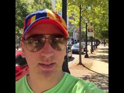 Atlanta Peachtree street, plimbare in Atlanta