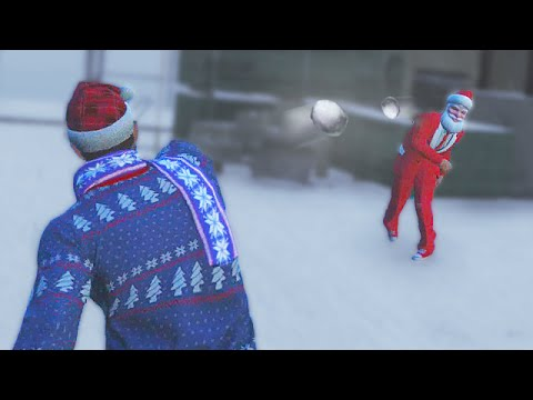 CRAZY SNOWBALL FIGHT! (GTA 5 Funny Moments)