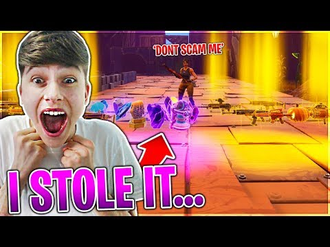 I STOLE HIS WHOLE INVENTORY! | *I SCAMMED HIM* PRANK | Fortnite Save The World