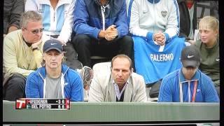 "Roger Federer yells ""shut up"" at annoying fan...deservedly."