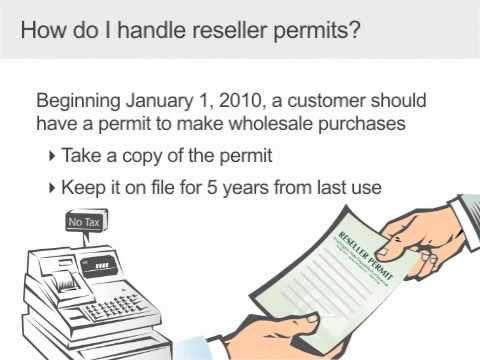 Resellers Permit for Wholesalers