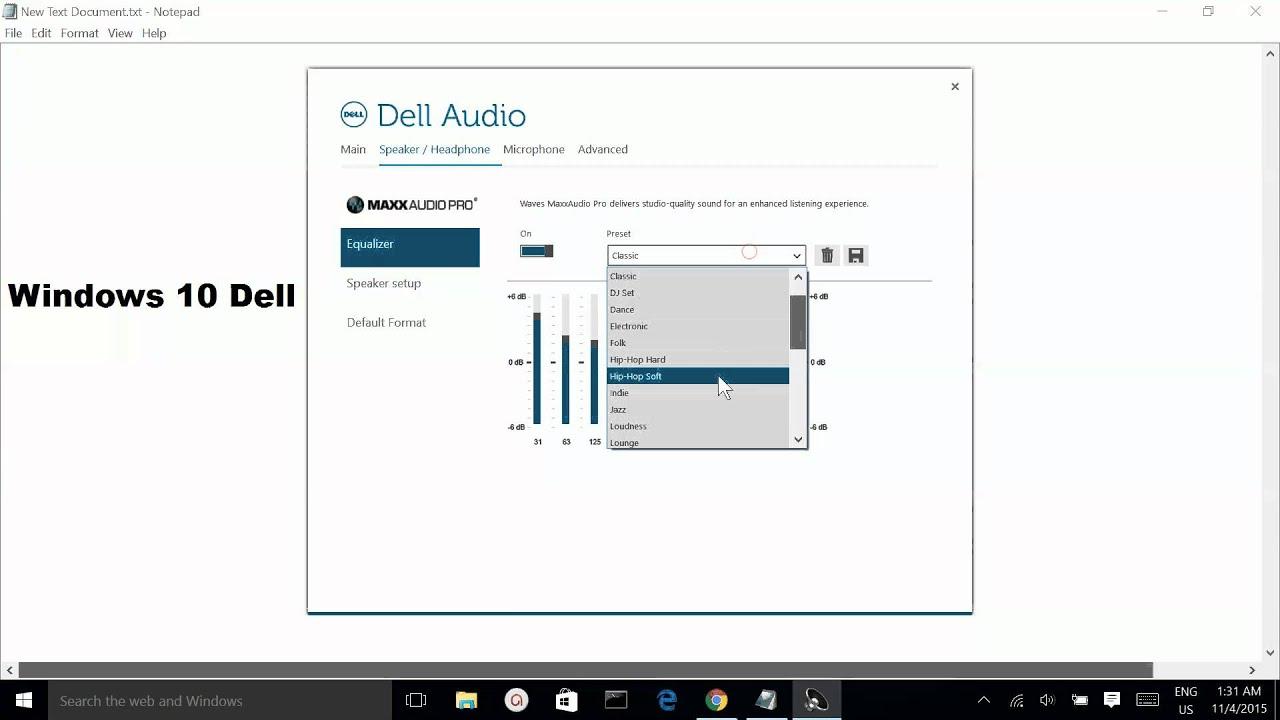 Windows 10 Dell Sound Equalizer